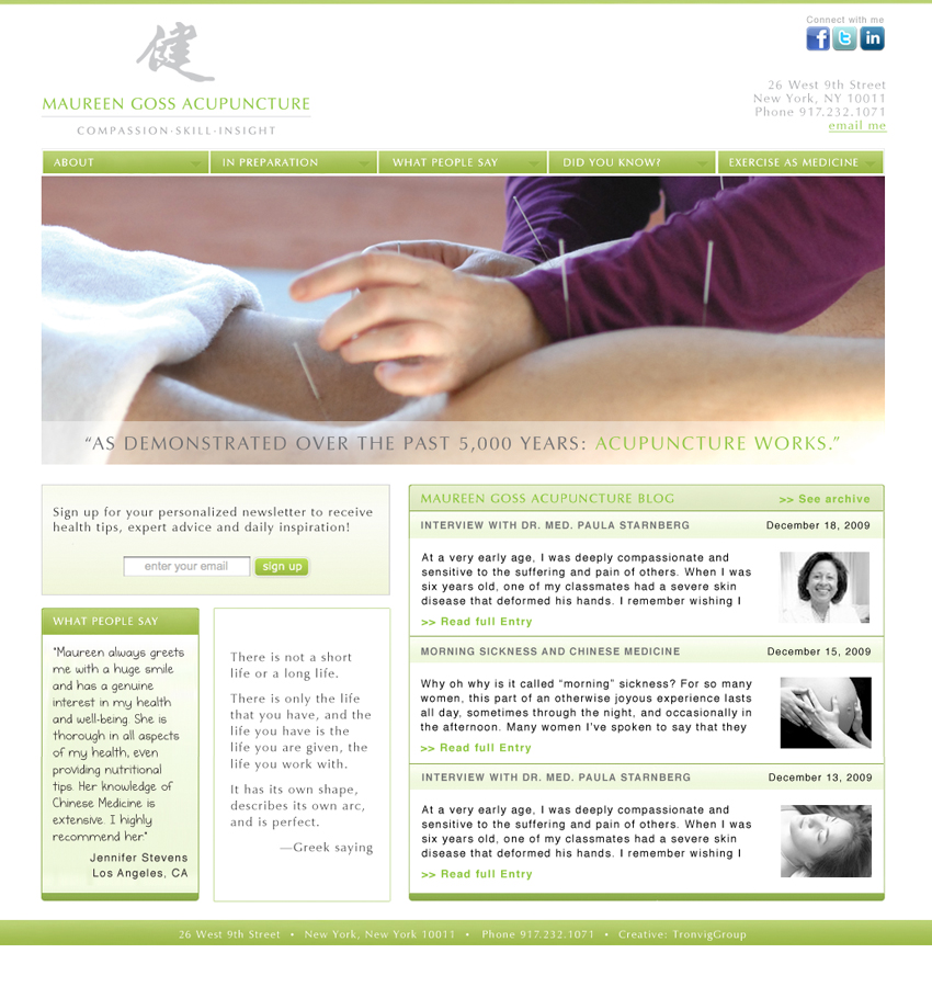 Maureen Goss Acupuncture Website & Collateral