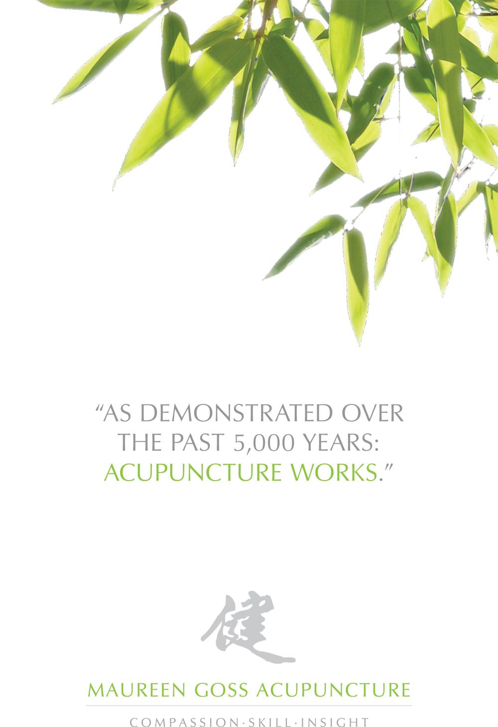 Maureen Goss Acupuncture, brochure, Tronvig Group
