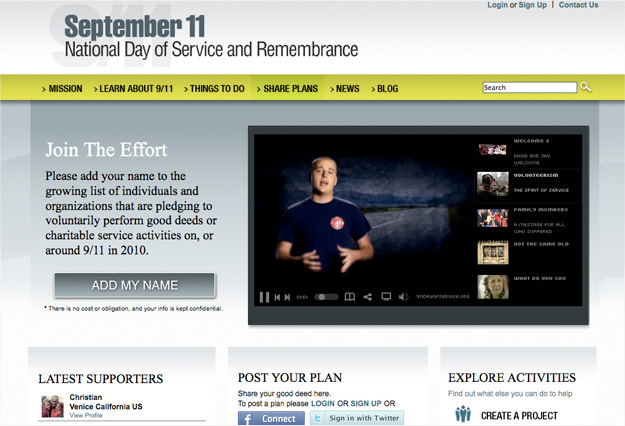 September 11 National Day of Service, Web, Tronvig Group