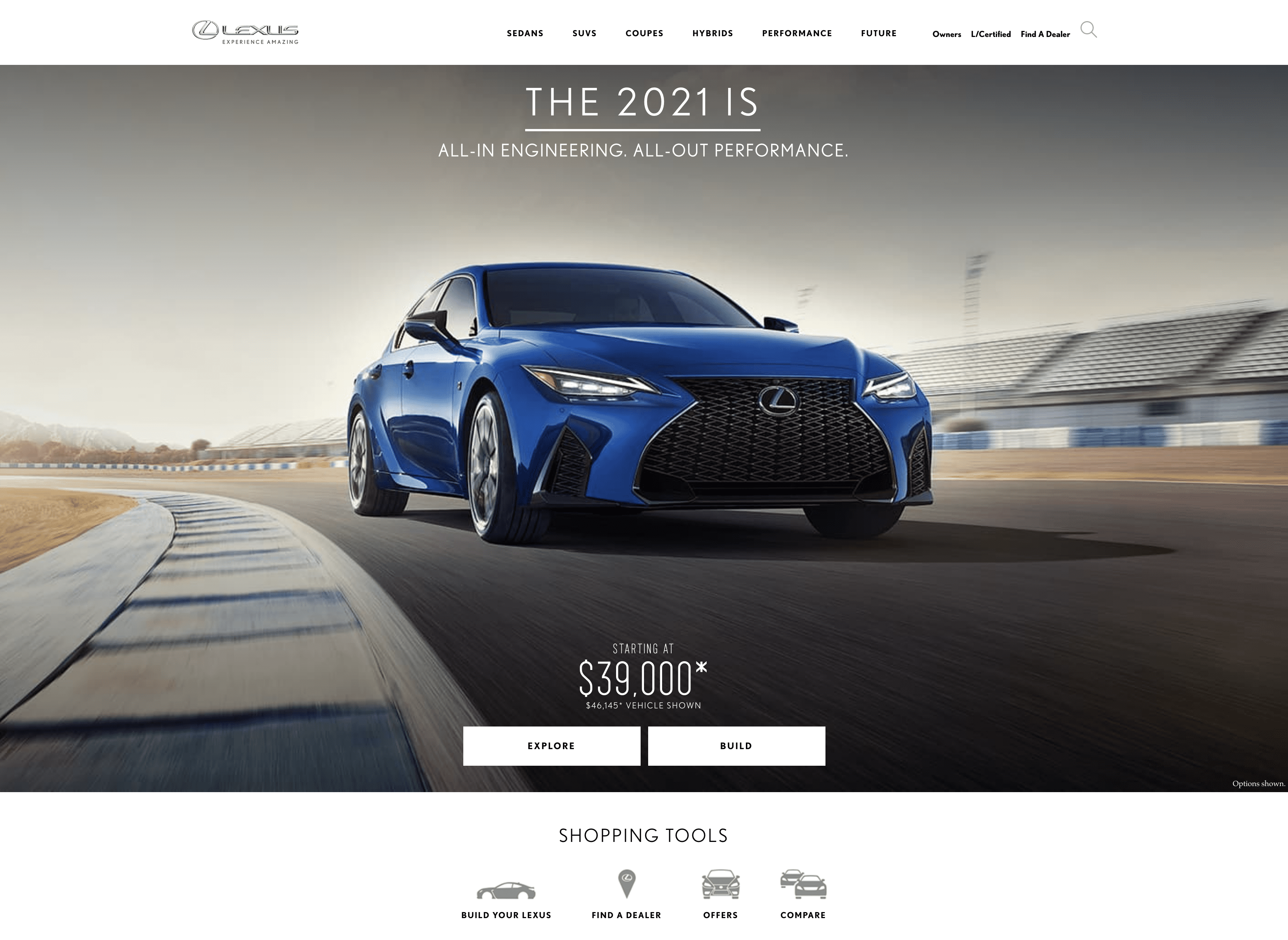 Lexus website
