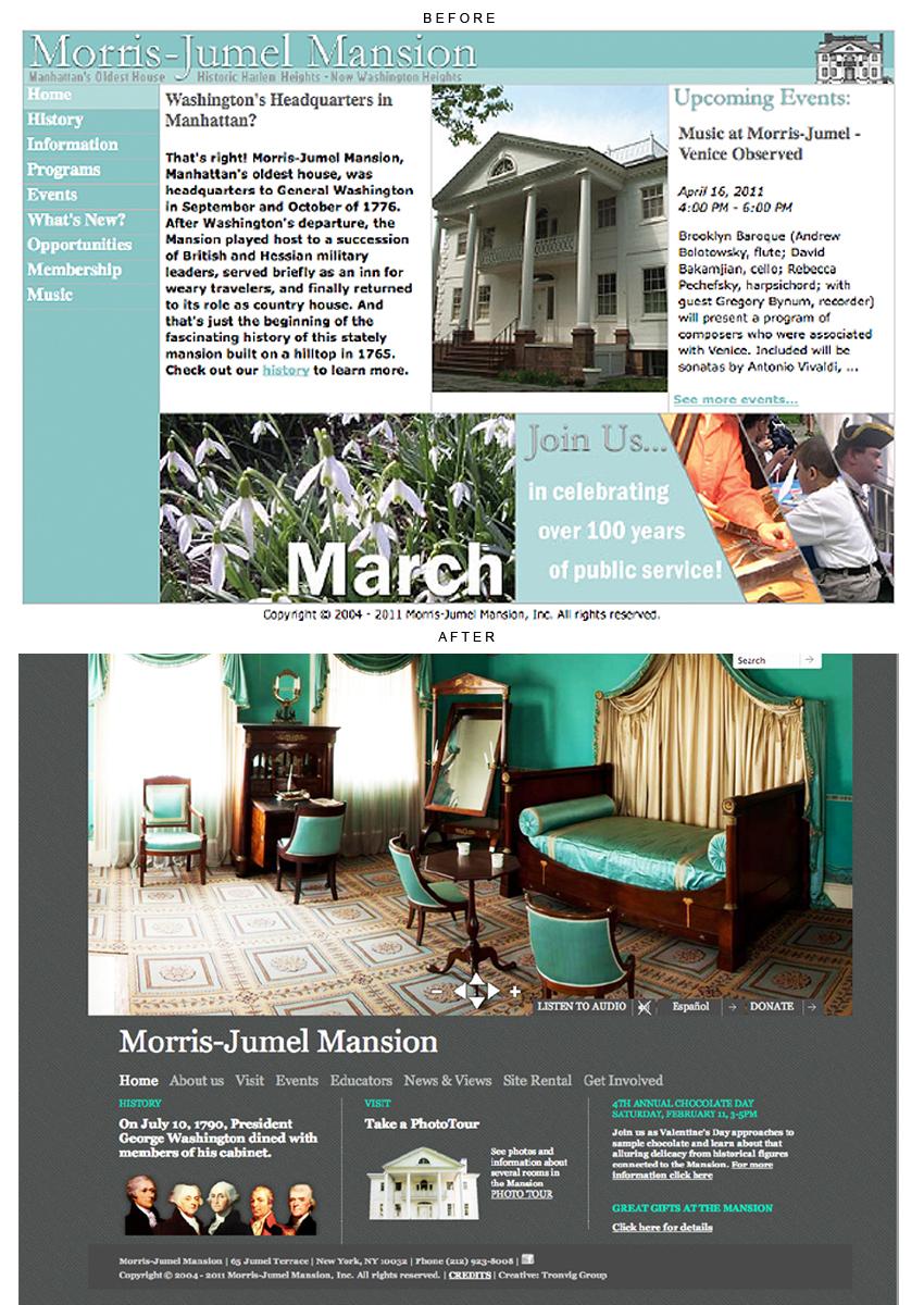 Morris-Jumel Mansion website design, Tronvig Group