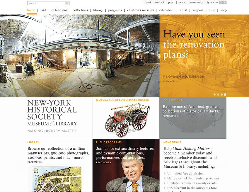 New York Historical Society Museum Website design, Tronvig Group