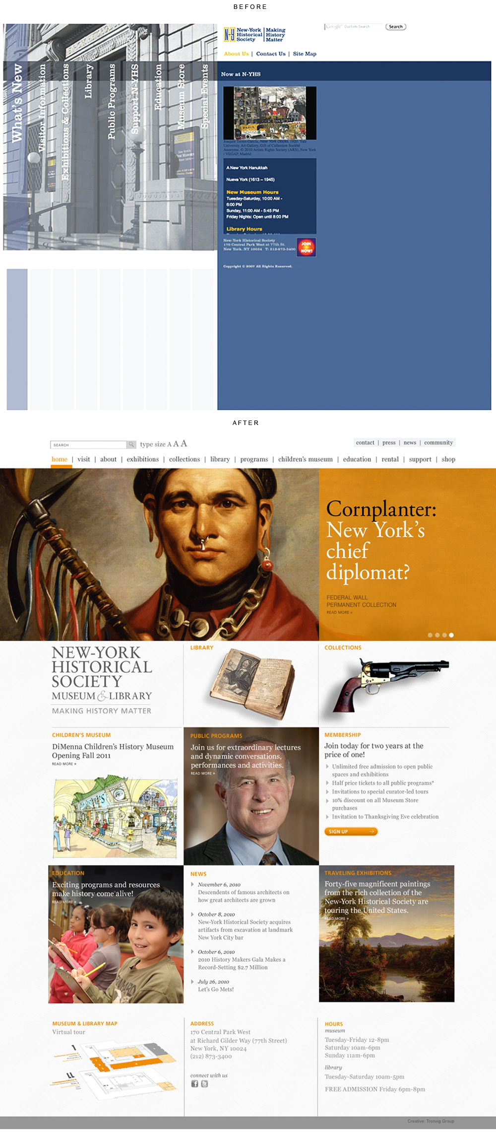 New-York Historical Society Museum website design
