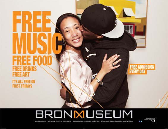 Bronx Museum Free Ad Campaign,Tronvig Group