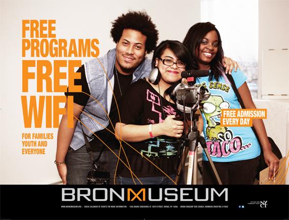 Bronx Museum Free Ad Campaign, Tronvig Group