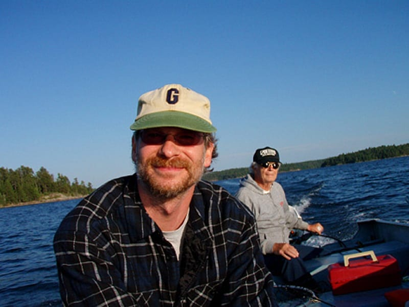 With Dad on the Lake of the Woods