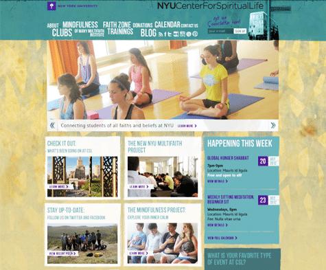 NYU Center for Spiritual Life Website, Tronvig Group