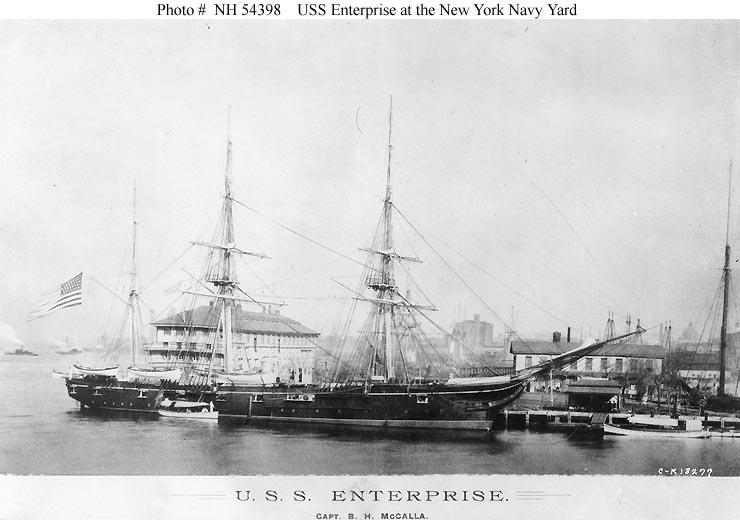 USS Enterprise (1874) at the Brooklyn Navy Yard