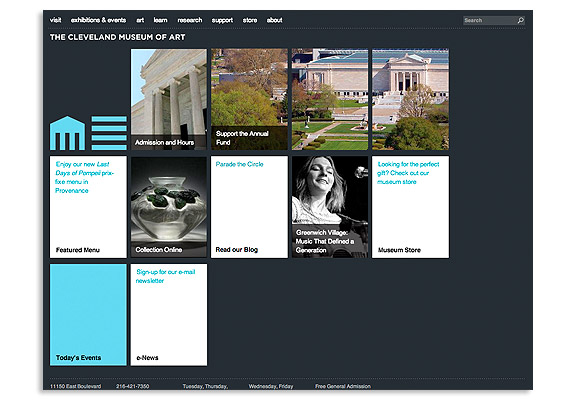 What is responsive design, Cleaveland museum of art