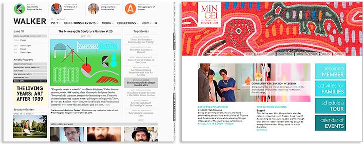 What is responsive design walker art center & min gei international museum