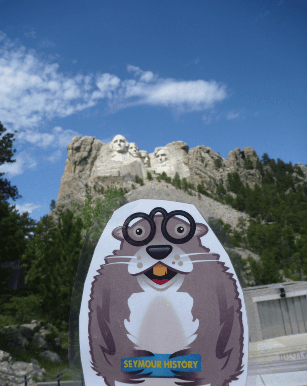 Mascots as Brand Amplifiers Seymour at Mt. Rushmore