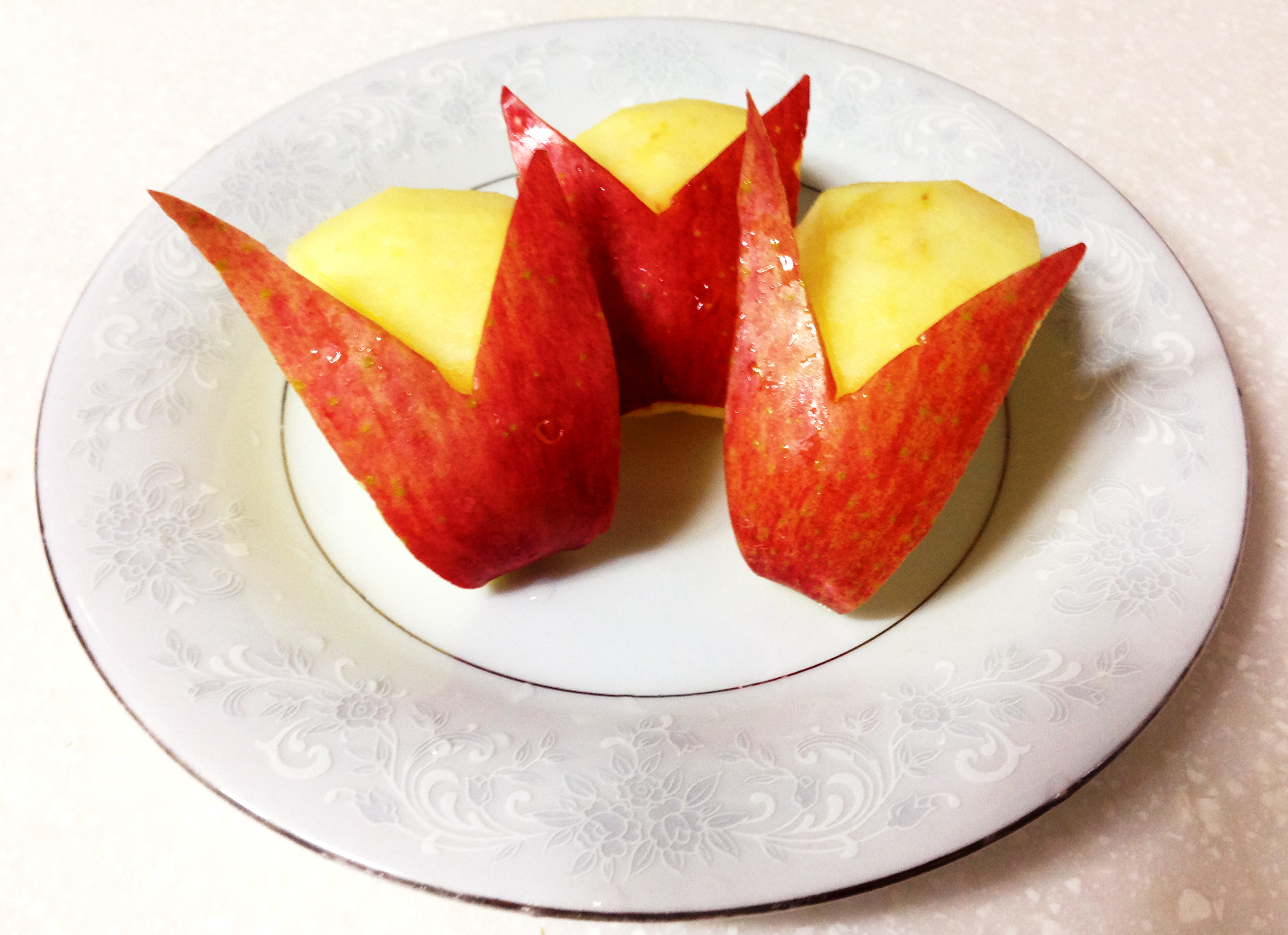 The Apple You Eat sliced into bunny rabbits