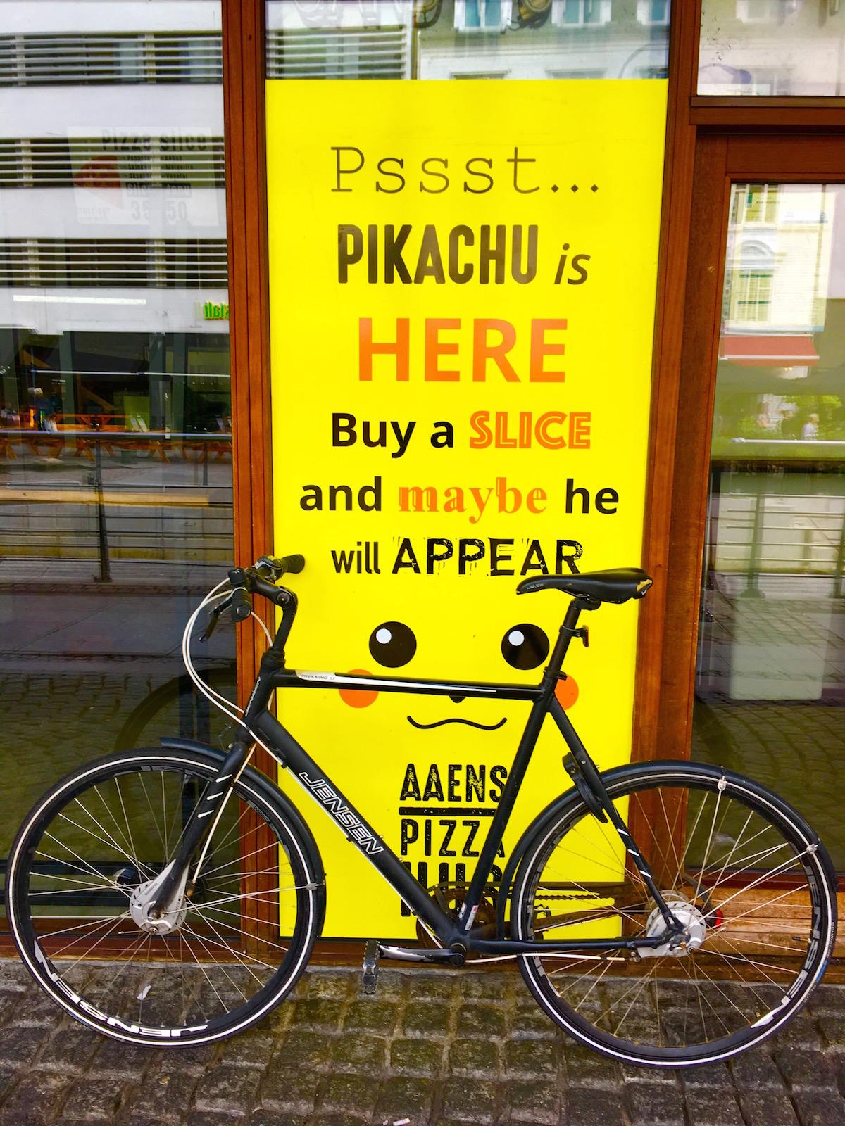 restaurant pitching Pokemon in Aarhus, Denmark